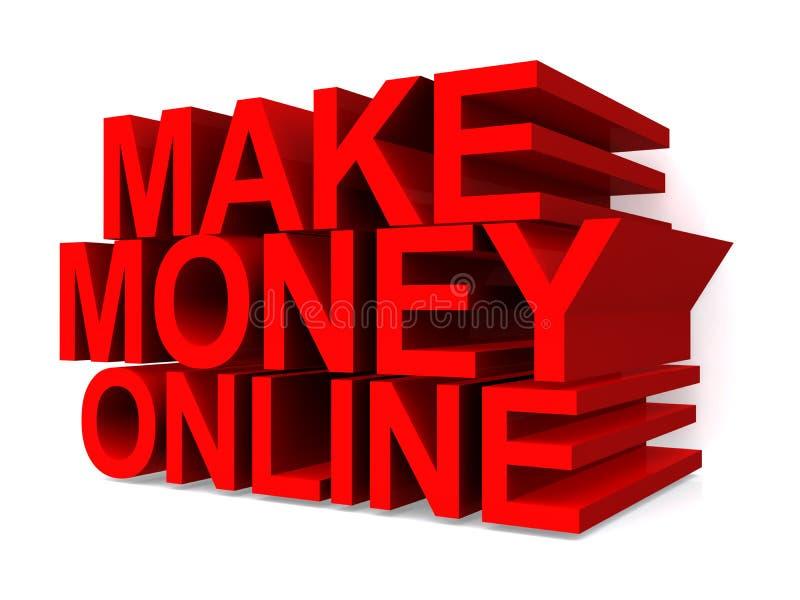 Faça o dinheiro em linha ilustração royalty free