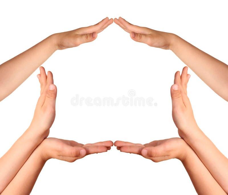 Faça o gesto da casa imagens de stock royalty free