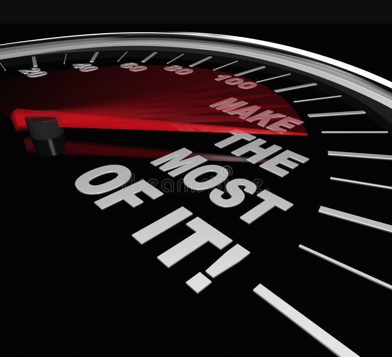 Faça o potencial da oportunidade do velocímetro da maior parte ilustração do vetor