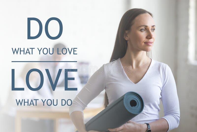 Faça o que você amam, amor o que você faz fotos de stock royalty free