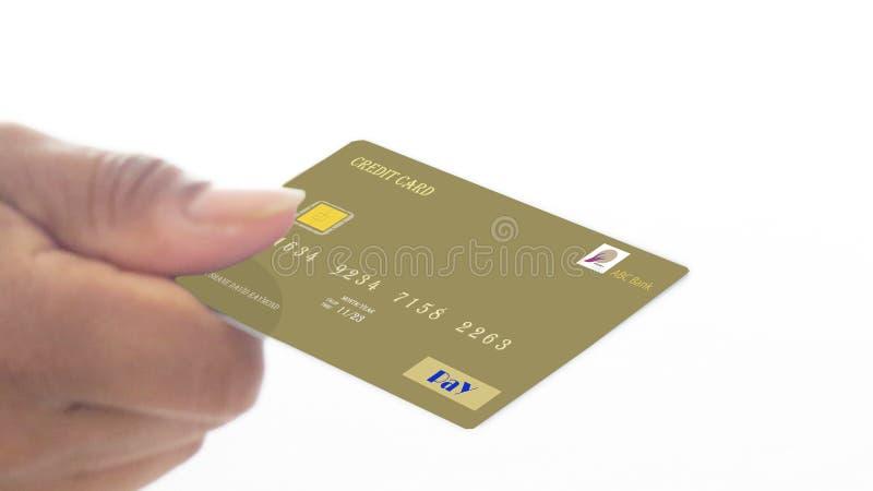 Faça pagamentos seguros através de seu cartão de crédito fotografia de stock royalty free