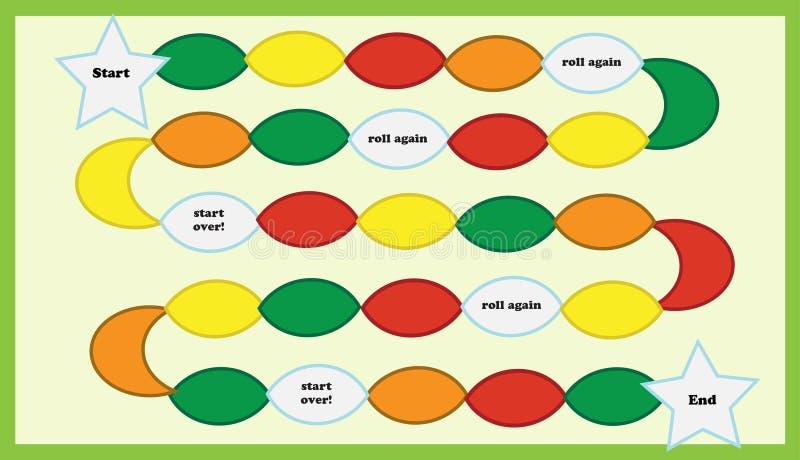 Faça seu próprio jogo de mesa ilustração stock