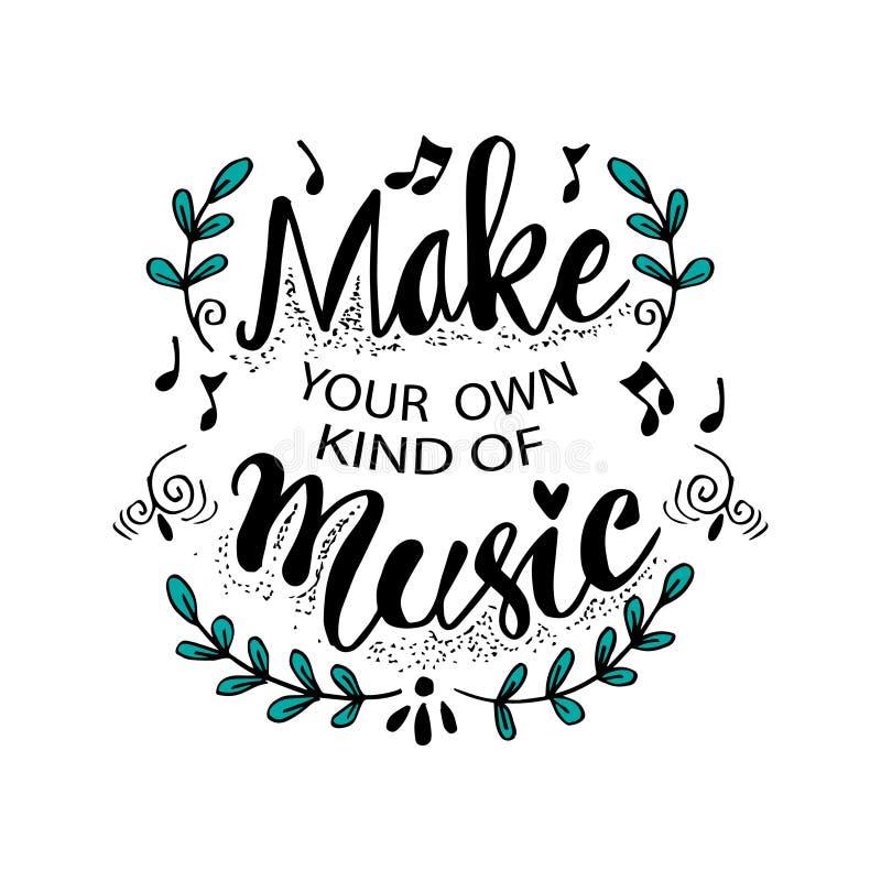 Faça seu próprio tipo da música ilustração do vetor