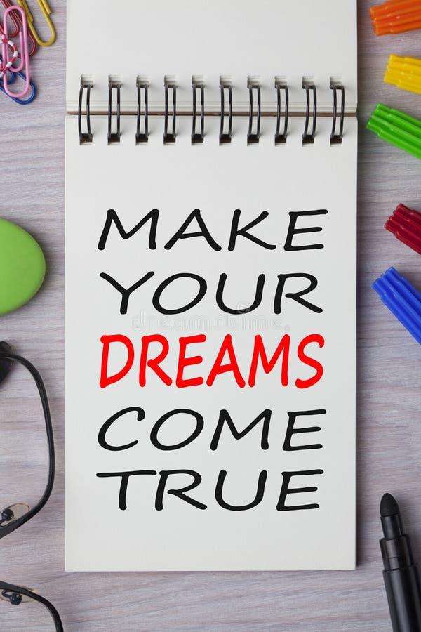 Faça seus sonhos vir verdadeiro imagens de stock royalty free