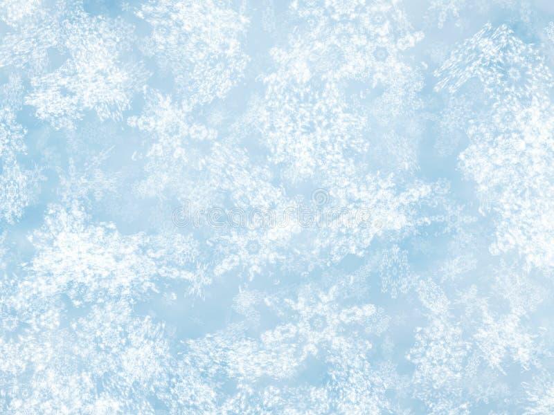Faça sinal a fundos da queda de neve de um tempo frio da luz solar ilustração stock