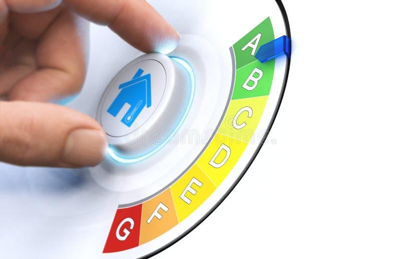 Faça sua casa mais energia eficiente ilustração stock