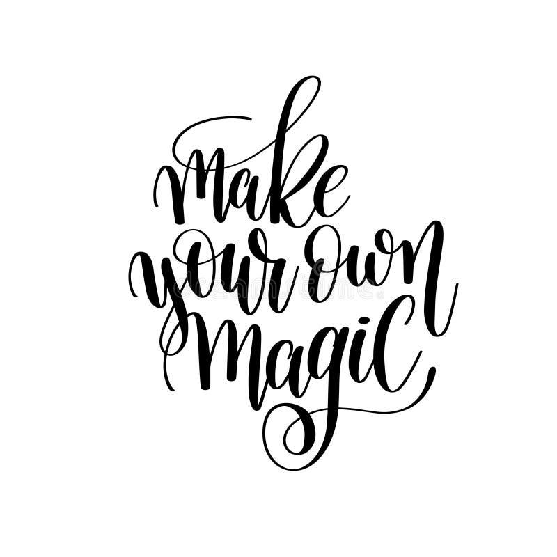 Faça sua própria inscrição mágica da rotulação da mão da tinta da escova ilustração do vetor
