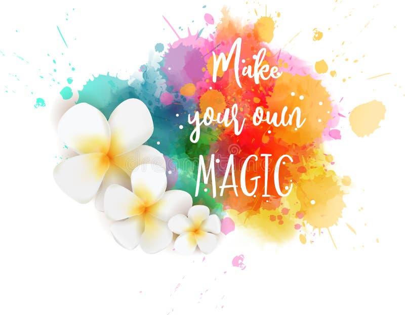 Faça sua própria mágica ilustração royalty free