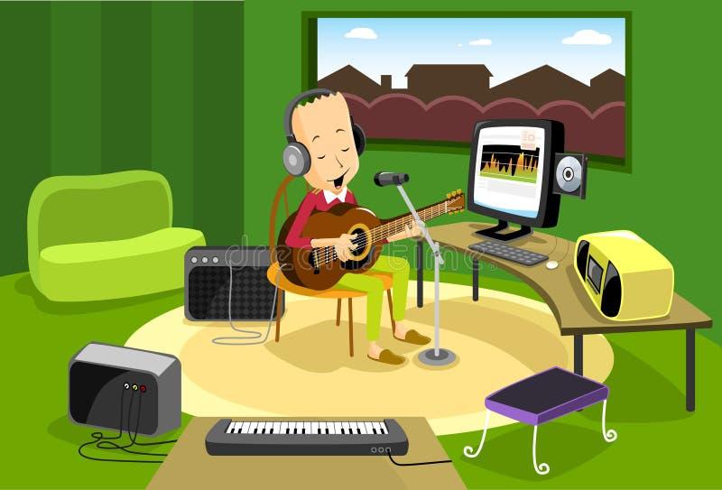 Faça sua própria música! ilustração do vetor