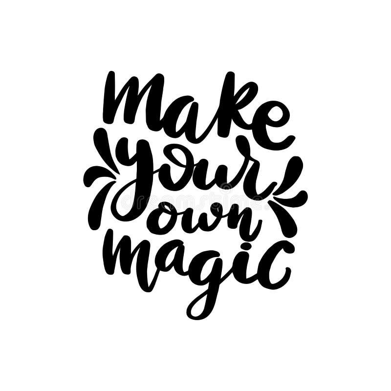 Faça sua própria rotulação mágica ilustração stock