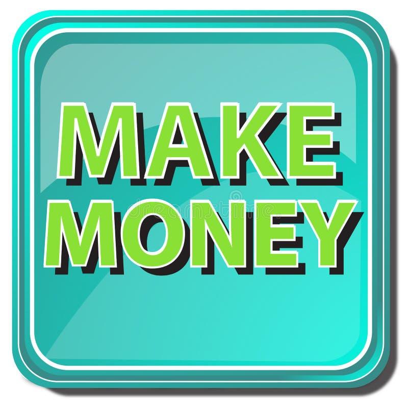 Faça a tecla do dinheiro ilustração stock