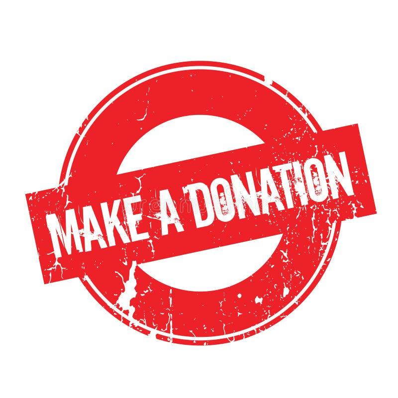 Faça um carimbo de borracha da doação ilustração stock