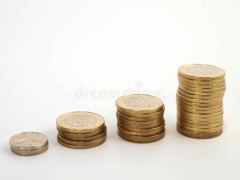 Faça um mapa do crescimento das moedas imagens de stock royalty free