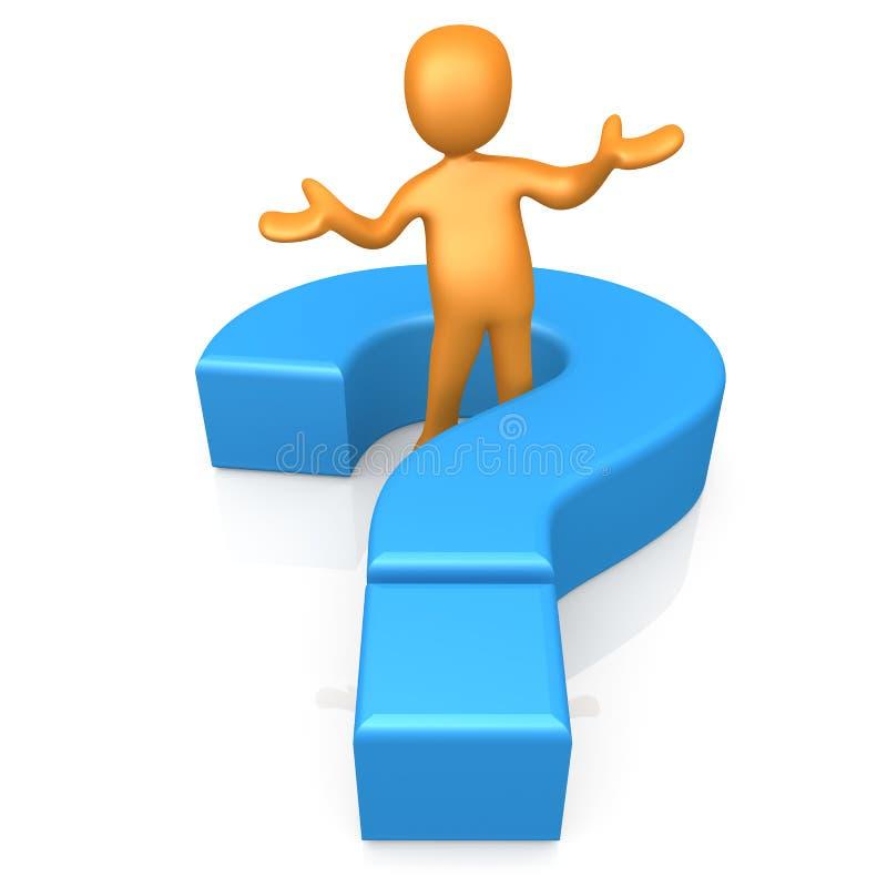 Faça uma pergunta ilustração royalty free