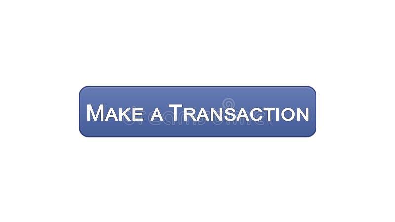 Faça uma relação da Web da transação abotoar a cor violeta, aplicação em linha do banco ilustração stock