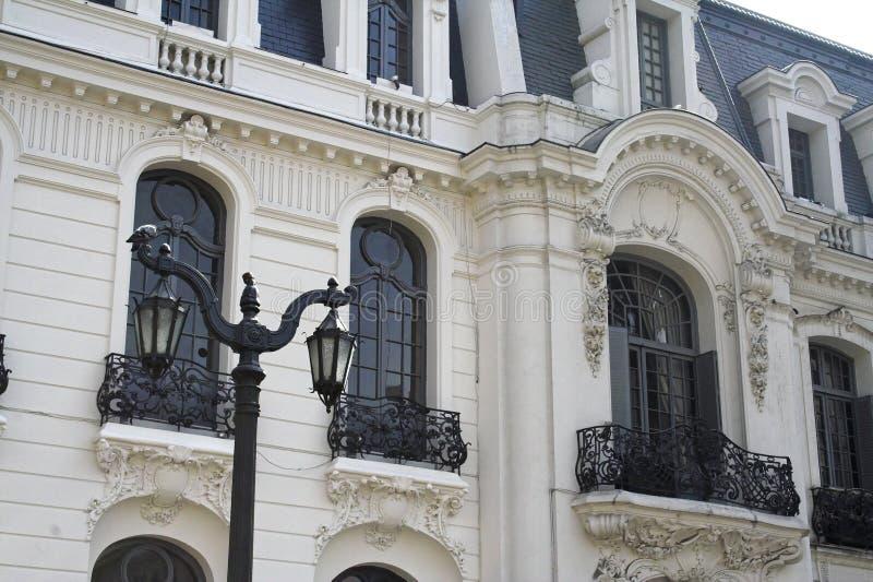 Façade élégante - Santiago font le Chili photographie stock libre de droits