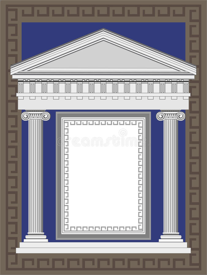 Façade antique de temple illustration libre de droits