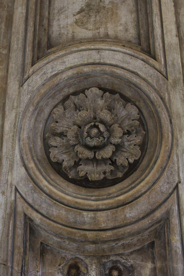 Façade artificielle de pierre décorative photos libres de droits