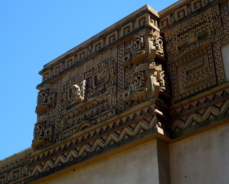 Façade aztèque image stock