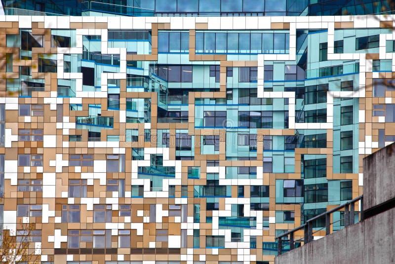 Façade contemporaine moderne d'architecture photo libre de droits