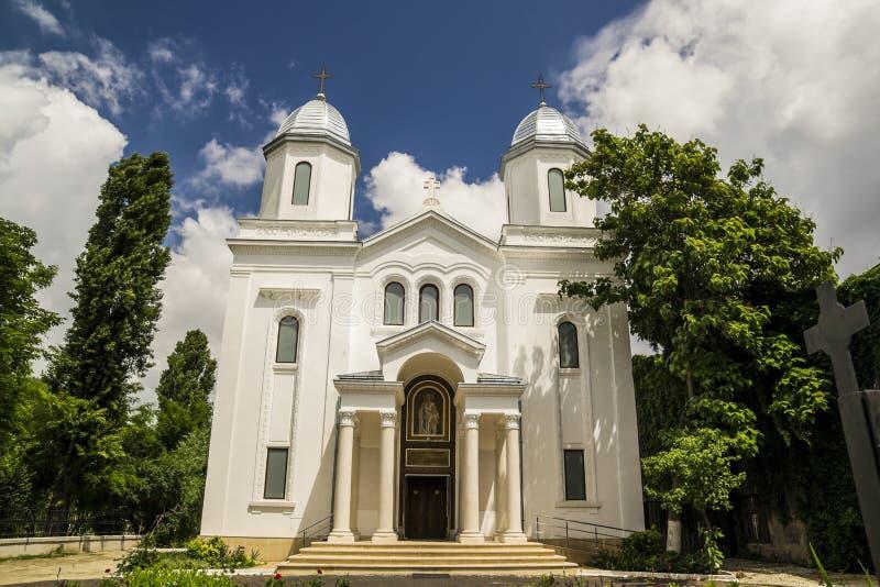 Façade d'église chrétienne photo stock