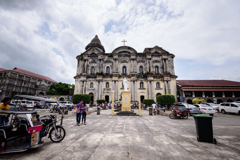 Façade d'église de Taal dans Batangas, Philippines Basilique de Sain photo libre de droits