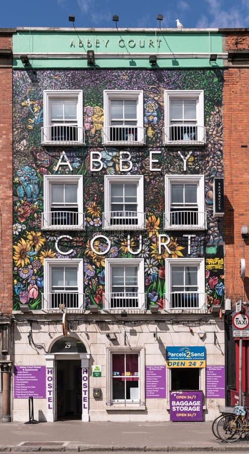 Façade d'Abbey Court Hostel à Dublin, Irlande photographie stock