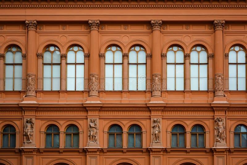 Façade d'Art Museum Riga Bourse sur la place de dôme, construisant dans le style du palazzo vénitien de la Renaissance images stock