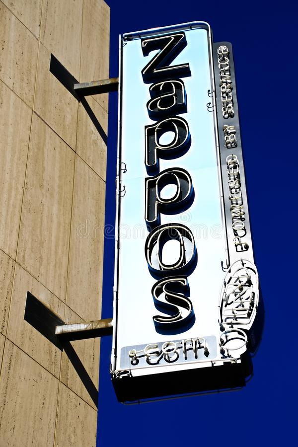 Façade d'Hôtel de Ville de Las Vegas Maintenant possédé par le détaillant en ligne Zappos image stock