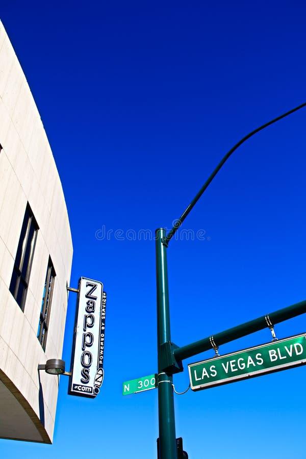 Façade d'Hôtel de Ville de Las Vegas Maintenant possédé par le détaillant en ligne Zappos photographie stock libre de droits