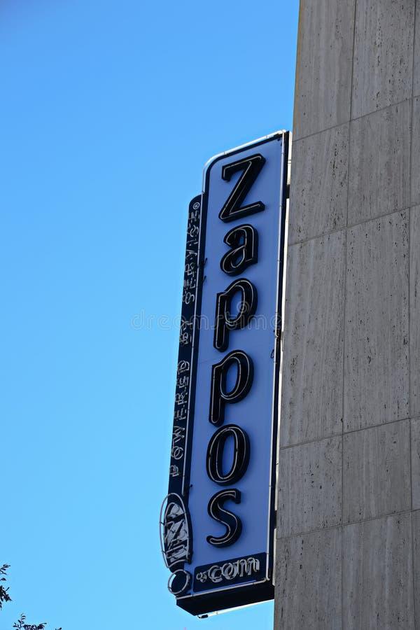 Façade d'Hôtel de Ville de Las Vegas Maintenant possédé par le détaillant en ligne Zappos photo libre de droits