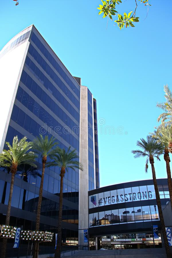 Façade d'Hôtel de Ville de Las Vegas Maintenant possédé par le détaillant en ligne Zappos images stock