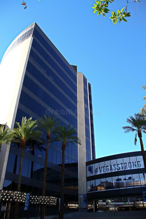 Façade d'Hôtel de Ville de Las Vegas Maintenant possédé par le détaillant en ligne Zappos image libre de droits