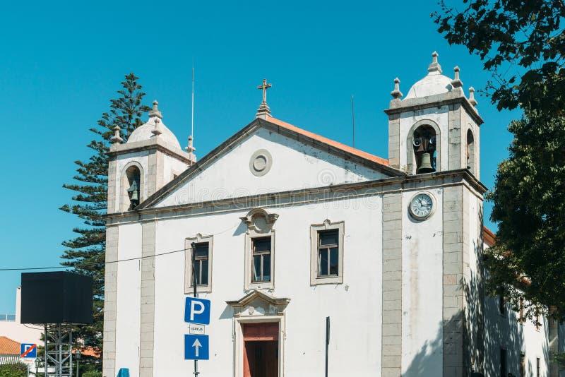 Façade d'Igreja Paroquial de Nossa Senhora DA Assuncao dans Cascais, Portugal photos libres de droits