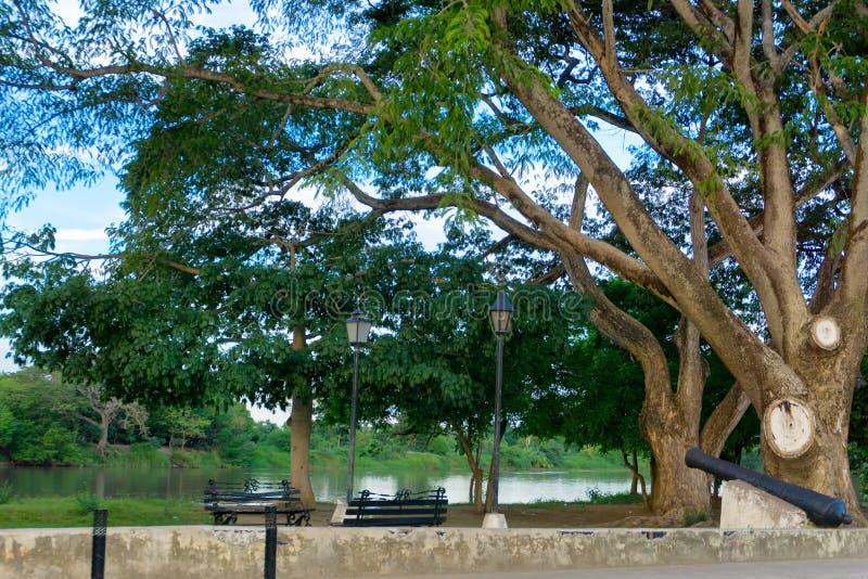 Download Façade D'une Rivière Dans Mompox, Colombie Photo stock - Image du tropical, arbre: 77151100