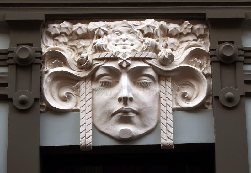Façade de bâtiment d'Art Nouveau image stock