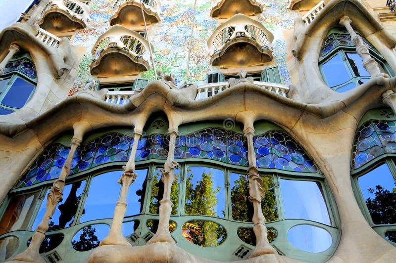 Façade de Batllo de maison, Espagne-Barcelone photos libres de droits