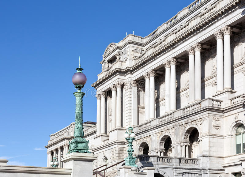 Façade de Bibliothèque du Congrès le Washington DC photos libres de droits
