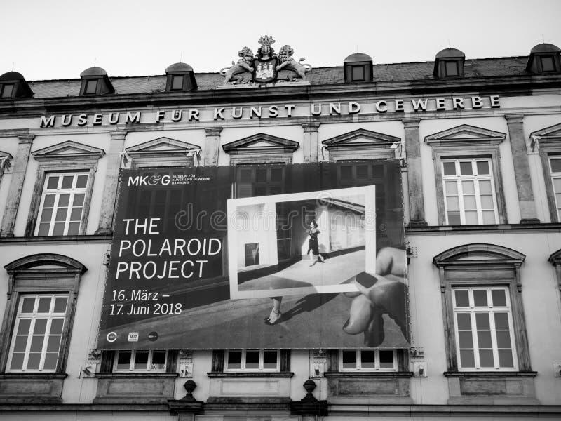 Façade de Gewerbe d'und de Kunst de fourrure de musée en Allemagne images stock