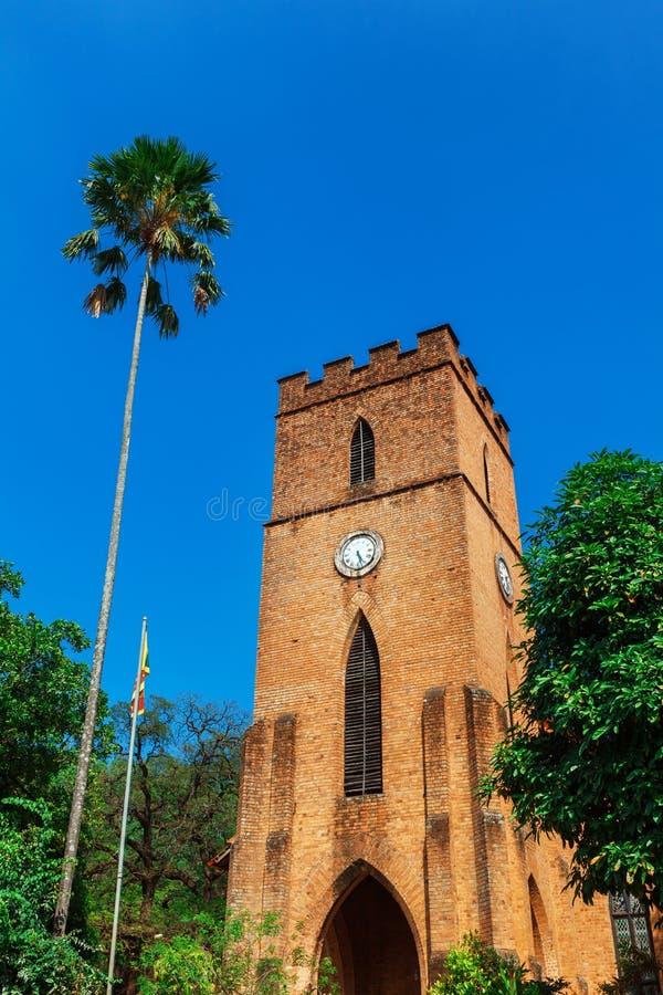 Façade de l'église de St Paul à Kandy, Sri Lanka images libres de droits