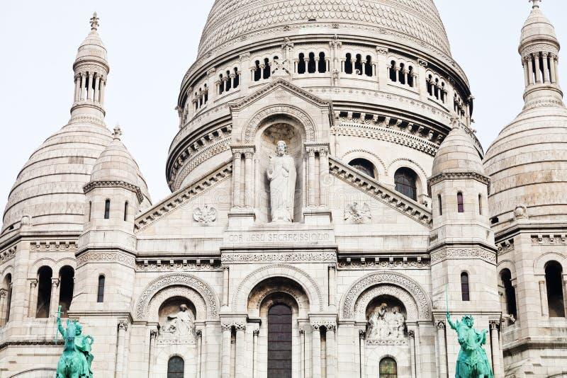 Basilique Sacre Coeur à Paris image libre de droits