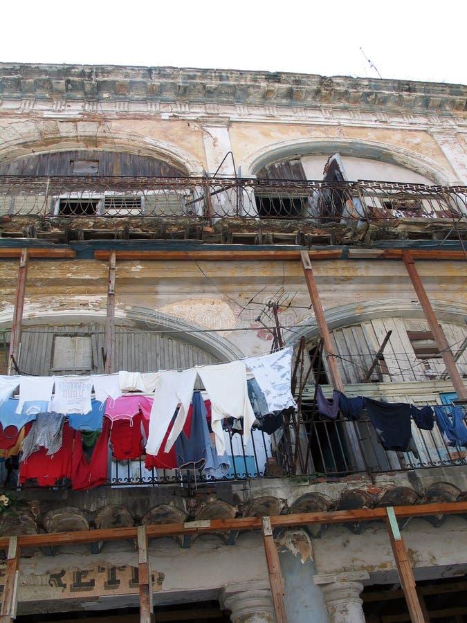 Façade de La Havane image libre de droits