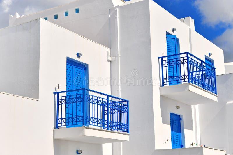 Façade de maison grecque traditionnelle image libre de droits