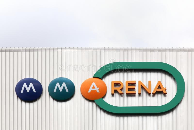 Façade de MMArena à Le Mans, France images stock