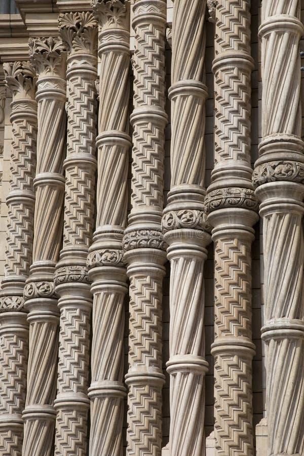 Façade De Musée National D Histoire, Londres Photo stock