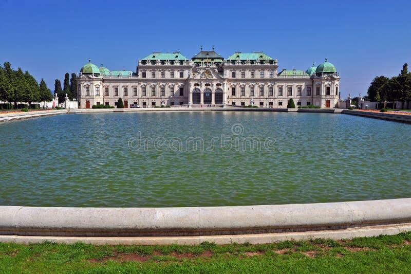 Façade de palais de belvédère à Vienne image stock