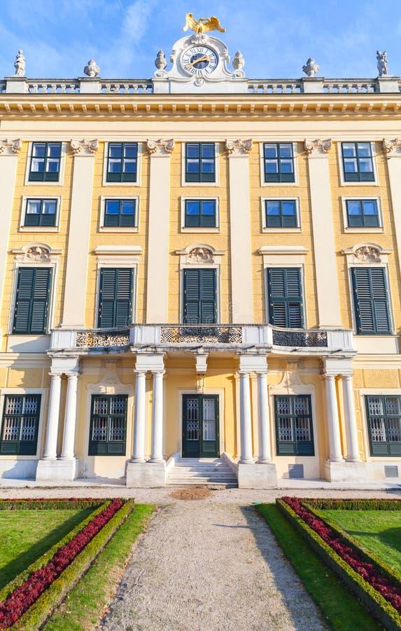 Façade de palais de Schonbrunn à Vienne, Autriche photos libres de droits
