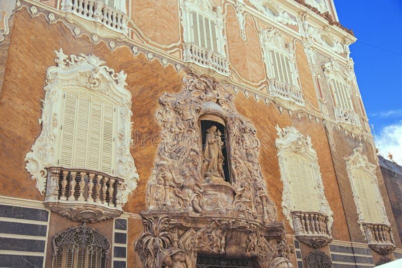 Façade de palais de Valencia Palacio Marques de Dos Aguas en albâtre chez l'Espagne photo stock