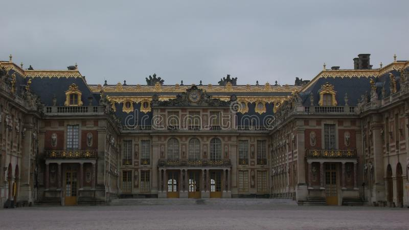 Façade de palais de Versailles, en France photos libres de droits