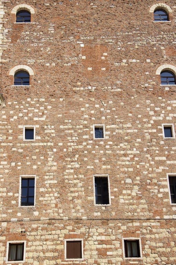 Façade de Palazzo Della Ragione à Vérone photos libres de droits